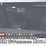裸の女性の身体にカレーライスを盛って客に提供していた売春クラブ経営者ら8人を逮捕