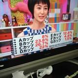 日本人女性のブラジャーのカップ毎の内訳wwwww