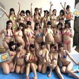 巨乳セクシー女優20人、水泳大会をしてしまう