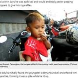 1日40本のタバコを吸う2歳児 またもやインドネシアで